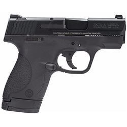 "Smith & Wesson 180021 M& P 9 Shield Double 9mm Luger 3.1"" 7+1/8+1 Black Polymer Grip Black Stainless"