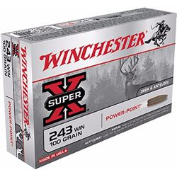 Winchester Super-X 243Win 100GR - 200 Rounds