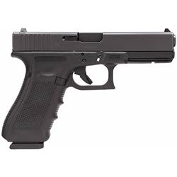 "Glock PG1750203 G17 Gen4 Double 9mm Luger 4.48"" 17+1 FS Black Interchangeable Backstrap Grip Black"