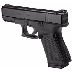 "Glock PA1950303AB G19 Gen5 Double 9mm Luger 4.02"" 15+1 NS Black Interchangeable Backstrap Grip Black"