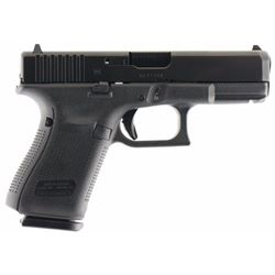 "Glock PA1950203 G19 Gen5 Double 9mm Luger 4.02"" 15+1 FS Black Interchangeable Backstrap Grip Black n"