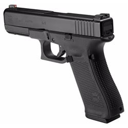 "Glock PA1750303AB G17 Gen5 Double 9mm Luger 4.49"" 17+1 NS Black Interchangeable Backstrap Grip Black"