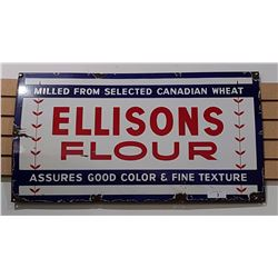 ELLISONS FLOUR PORCELAIN SIGN 1940'S