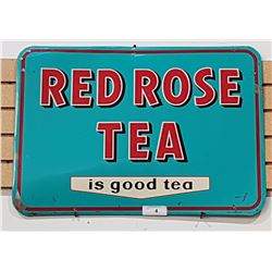 RED ROSE TEA TIN SIGN DATED 1956