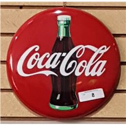 COCA-COLA METAL BUTTON DATED 1990