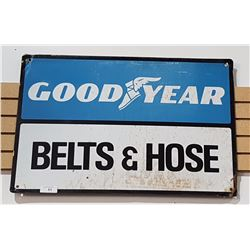 ORIGINAL GOODYEAR BELTS & HOSE TIN SIGN 1960'S