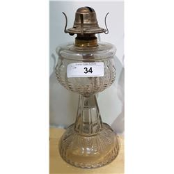 TURKEY FOOT OIL LAMP