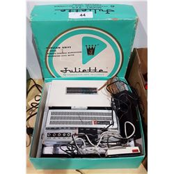 JULIETTE SIX TRANSISTOR TAPE RECORDER IN BOX