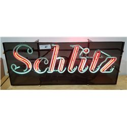 VINTAGE SCHLITZ NEON BEER SIGN