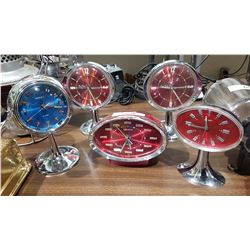 LOT OF 5 WIND UP ALARM CLOCKS