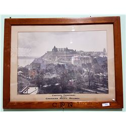 "CANADIAN PACIFIC RAILWAY (CPR) PRINT OF ""CHATEAU FRONTENAC"""