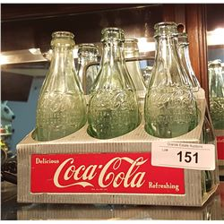 VINTAGE COCA-COLA BOTTLE CARRIER W/BOTTLES