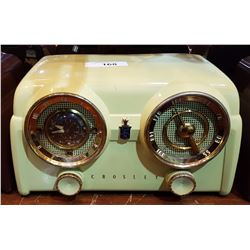 LIGHT YELLOW CROSLEY RADIO