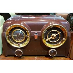 DARK BROWN CROSLEY RADIO