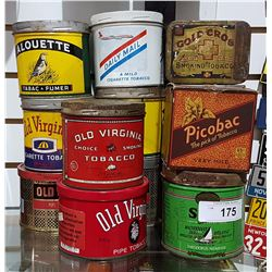 LOT OF 13 MISC TOBACCO TINS