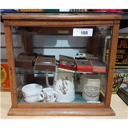 TABLE TOP DISPLAY CABINET W/CONTENTS