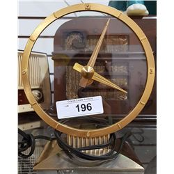 VINTAGE JEFFERSON GOLDEN HOUR ELECTRIC CLOCK