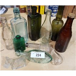 LOT OF 10 PCS OF COLLECTIBLES BOTTLES & CANDY CONTAINERS
