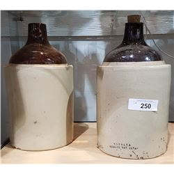 TWO STONEWARE CROCK JUGS