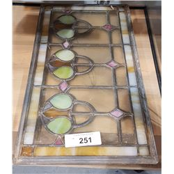 TWO STAINED GLASS IN LEAD FRAMES