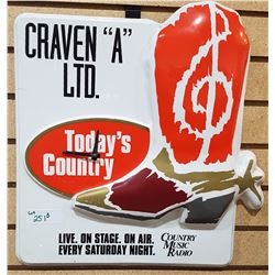 CRAVEN A COWBOY BOOT CLOCK