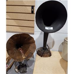 ANTIQUE HOME SPEAKER & AMPLION WOOD HORN SPEAKER