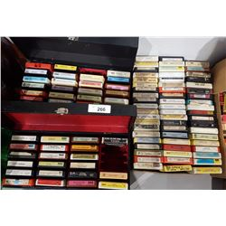 THREE BOXES MISC 8 TRACK TAPES