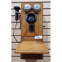 ANTIQUE WALL CRANK WALL PHONE
