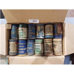 BOX OF MISC GRAMOPHONE CYLINDERS