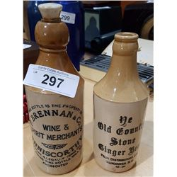 EARLY STONE GINGER BEER & WINE/SPIRIT BOTTLES