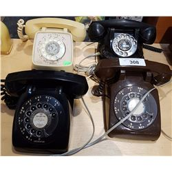 LOT OF 4 ROTARY TELEPHONES