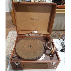 PORTABLE SILVERTONE RECORD PLAYER
