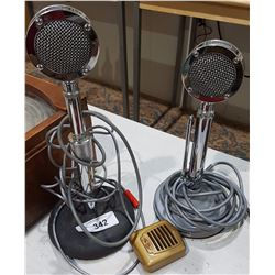 TWO VINTAGE TABLE TOP MICROPHONES