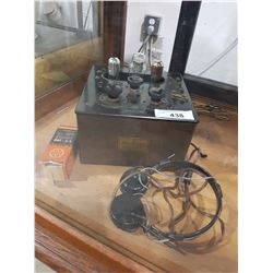 1920'S GE MODEL RADIO W/HEADSET