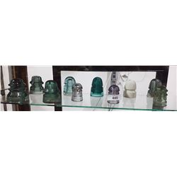SHELF LOT OF 10 INSULATORS