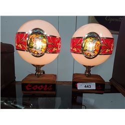 PAIR OF COORS BAR LAMPS