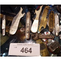 LOT OF 8 COLLECTIBLE POCKET KNIVES