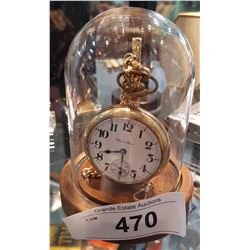 HAMILTON POCKET WATCH IN DISPLAY STAND
