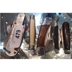 LOT OF 5 COLLECTIBLE POCKET KNIVES