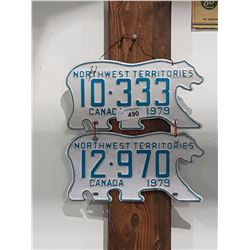 2 1979 NORTHWEST TERRITORIES LICENCE PLATES