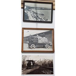 LOT OF 3 BLACK & WHITE PHOTOS INC THE KELLY DOUGLAS & CO. DELIVERY WAGON
