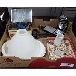 BOX LOT OF COLLECTIBLES INC JEWELERS TOOLS ETC.