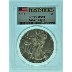 2017 PCGS MS69 First Strike American Silver Eagle