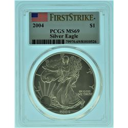 2004 PCGS MS69 First Strike American Silver Eagle