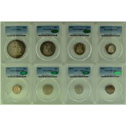 1876 PCGS High Grade PROOF SET 8 pieces More pics if needed