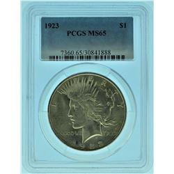 1923 PCGS MS65 Peace Silver Dollar