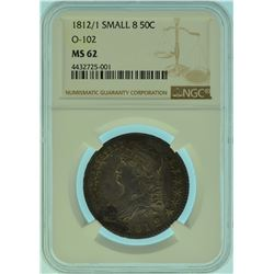 1812/1 NGC MS 62 Overton - 102 Capped Bust Half Dol.