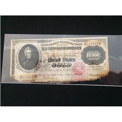 1917 $10000 Gold Note