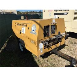2001 SULLIVAN D185Q Air Compressor, VIN/SN:21480 - Perkins diesel, mtd. on S/A trailer, pintle hitch
