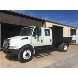 2012 INTERNATIONAL 4300 Flatbed Dump Truck, VIN/SN:3HAJTSKM1CL129326 - crew cab, 6.4L Int. engine, A